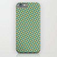 Retro floral blue iPhone 6 Slim Case