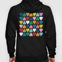Up and Down Hearts on Grey Hoody