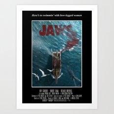 Jaws - 1975 variant Art Print