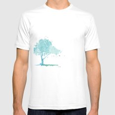 Blue tree White Mens Fitted Tee SMALL
