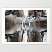 Reindeer Skin With Small… Art Print
