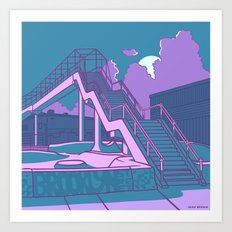 Brooklyn Street Skate Park Art Print