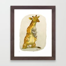 Elephant In A Giraffe Co… Framed Art Print