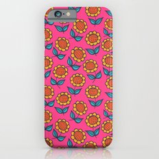 Floral mix pink sunflowers iPhone 6 Slim Case