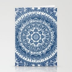 Blue Mandala Pattern Stationery Cards