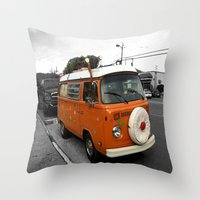 The Holiday Bus Throw Pillow