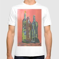 Study Of Bottles Mens Fitted Tee White SMALL