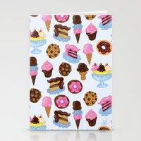 Dessert Pattern Stationery Cards