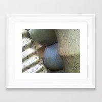 Neutral Stack Framed Art Print