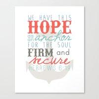 Hope as an Anchor Canvas Print