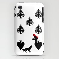 iPhone 3Gs & iPhone 3G Cases featuring Curator Deck: The 7 of Spades by Emmanuel Jose