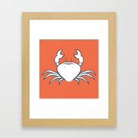Crab Framed Art Print
