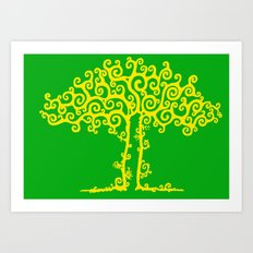 Branches Of Light Art Print