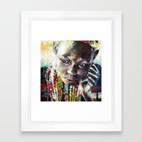 Reverie - Ethnic African portrait Framed Art Print