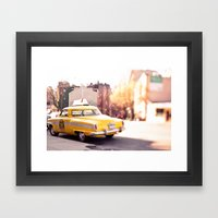 it was a yellow cab... Framed Art Print