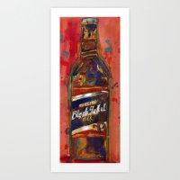 Black Label Bottle Beer Art Print