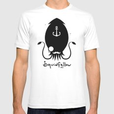 Squidfellow Logo SMALL White Mens Fitted Tee