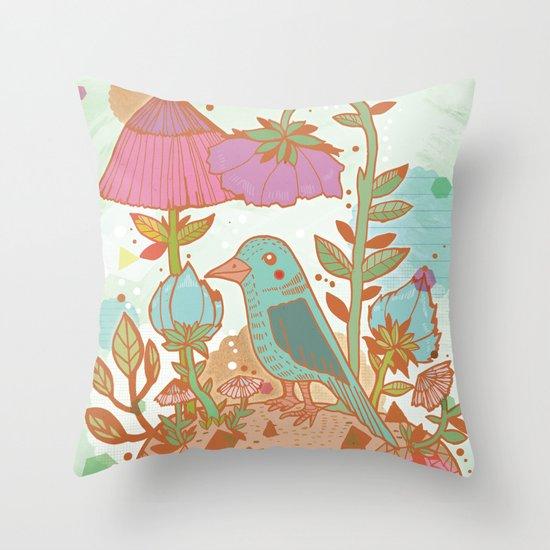 The Blue Bird Throw Pillow