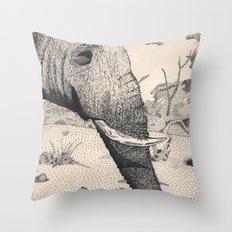 Family - Elephant Mourni… Throw Pillow