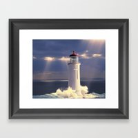 Lighthouse Temple Framed Art Print