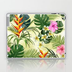 Tropical pattern with flowers Laptop & iPad Skin