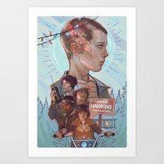 Stranger Kids Art Print