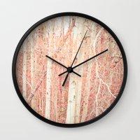 White Birch Trees Wall Clock