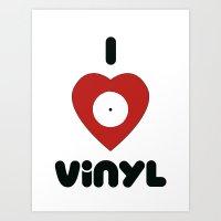 I Heart Vinyl Art Print