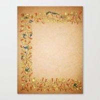Gold Orange Trumpet Vine… Canvas Print