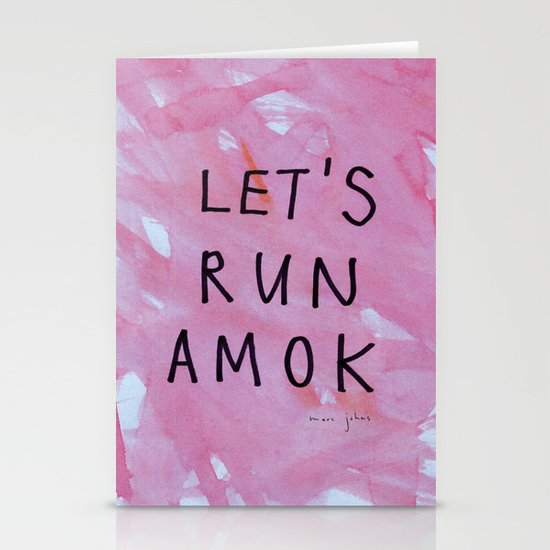let's run amok Stationery Card