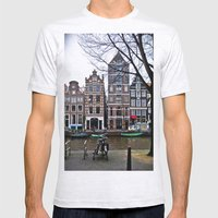 Amsterdam Mens Fitted Tee Ash Grey SMALL