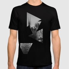 then finds me in black + white Black SMALL Mens Fitted Tee