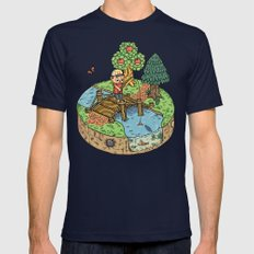 New Leaf Mens Fitted Tee Navy SMALL