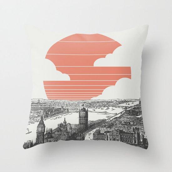 Goodnight London Throw Pillow