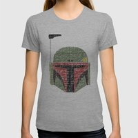 Lines Of Boba Fett Womens Fitted Tee Athletic Grey SMALL