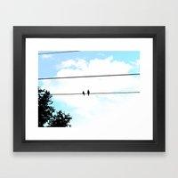 Love Doves Framed Art Print