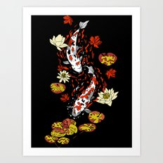 FALLING FISHES Art Print
