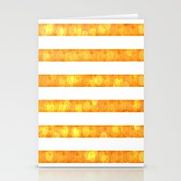Bokeh Stripes Orange And… Stationery Cards