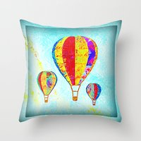 Beautiful Balloons Mosai… Throw Pillow