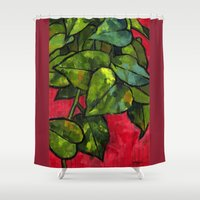 Pothos 3 Shower Curtain