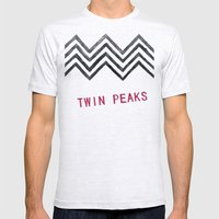 Twin Peaks Mens Fitted Tee Ash Grey SMALL