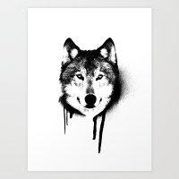 Wolf spray paint Art Print