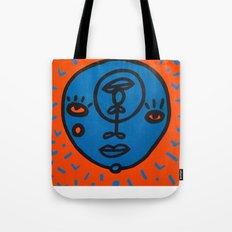 orange et bleu Tote Bag
