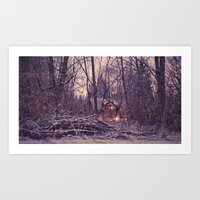 One Winter's Eve Art Print