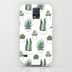 watercolour cacti and succulent Galaxy S5 Slim Case