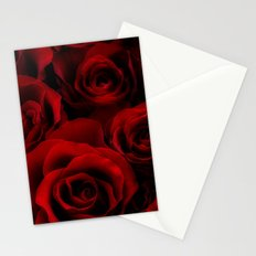 Red Roses Stationery Cards