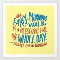 Early-Morning Walk Art Print