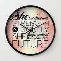 Proverbs 31 She is...  Wall Clock