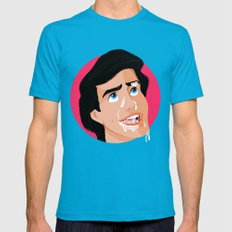 Is There Something On My Face - Eric Mens Fitted Tee Teal SMALL