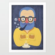 Blue Beard Art Print